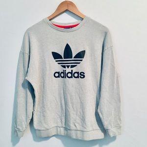 Adidas Textured Oversized Crewneck Pullover